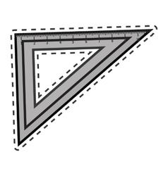 rule school supply icon vector image