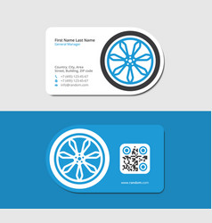 Blue business card for car dealership vector