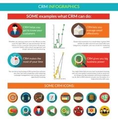 Crm Infographics Set vector image