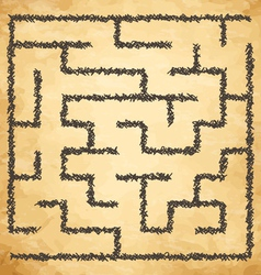 Golden maze vector image vector image