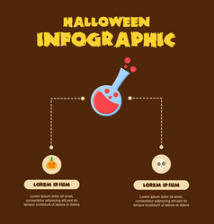 halloween infographic design various collection vector image