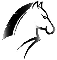 horse head tattoo vector image vector image