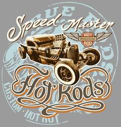 hot rod speed vector image vector image
