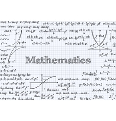 Mathematical pattern background in notebook vector image vector image