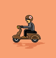 A man with scooter vector image
