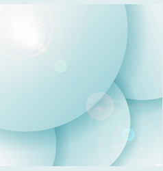 abstract 3d blue circles overlapping layer vector image