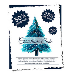 Abstract christmas tree sale designs vector