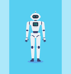 Android robot cyborg technology vector