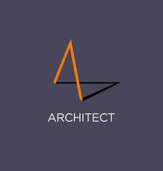 Architect or building logo vector