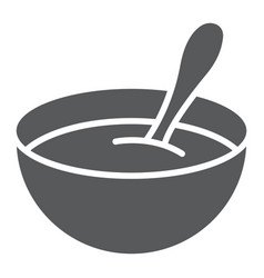 Baby cereal glyph icon food and eat vector