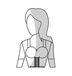 Bavarian woman icon vector