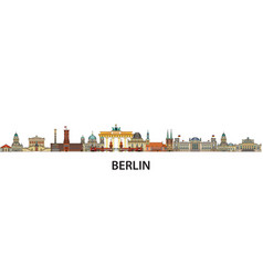 berlin colorful line art 9 vector image