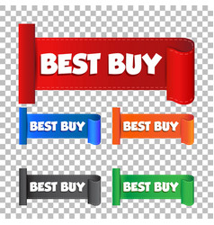 best buy sticker label on isolated background vector image