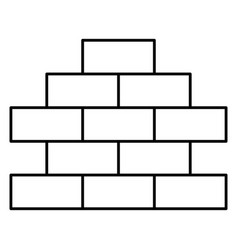 Bricks wall pile icon vector