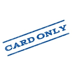 Card Only Watermark Stamp vector