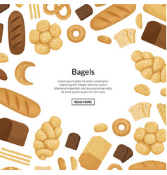 Cartoon bakery elements background vector