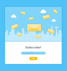 cartoon email subscribe card background ad vector image