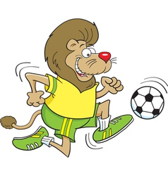Cartoon Soccer Lion vector