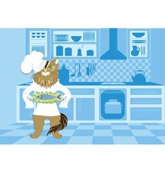 Cat cook vector