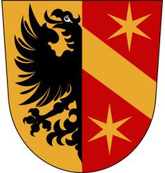 Coat of arms of kaufbeuren in swabia bavaria vector