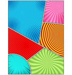 comic book bright background vector image