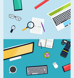 creative workplace design vector image