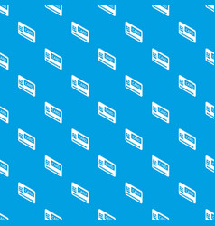 credit card pattern seamless blue vector image