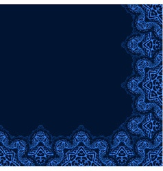 Decorative corner border with abstract snowflakes vector