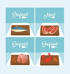 delicious seafood concept vector image