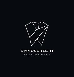 diamond dental logo icon vector image