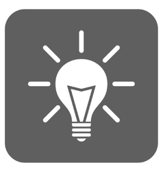Electric Light Flat Squared Icon vector