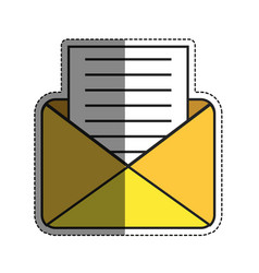 Envelope with a letter icon vector