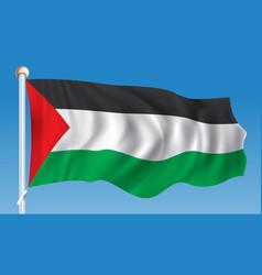 Flag of gaza strip vector
