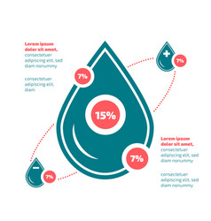 flat design infographic with water theme vector image vector image