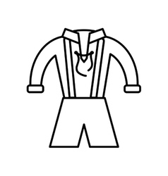 German traditional male costume vector image