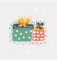 gift boxes full presents vector image