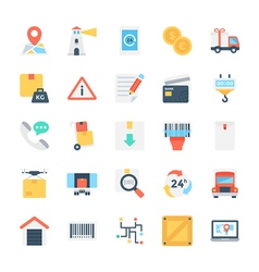 Global Logistics Colored Icon 3 vector