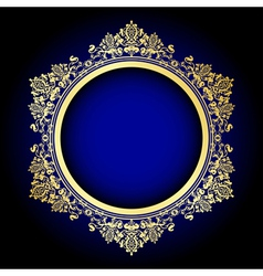 gold and blue frame vector image