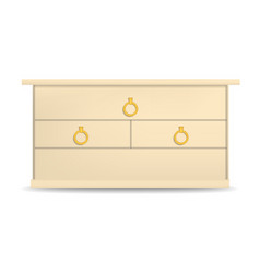 Golden drawer mockup realistic style vector