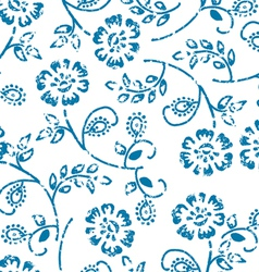 Grungy seamless pattern vector image