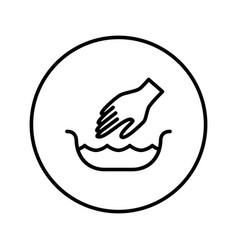 handwash symbol icon editable thin line vector image