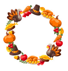 Happy thanksgiving day frame vector