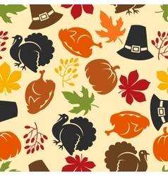 Happy Thanksgiving Day seamless pattern with vector image