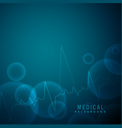 Heartbeat science and medical background vector