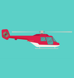 helicopter in flat style vector image