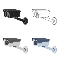 Hidden camera icon in cartoon style isolated on vector