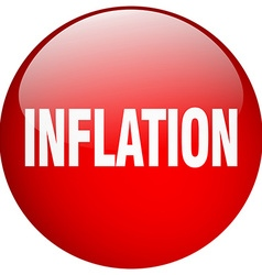 inflation red round gel isolated push button vector image