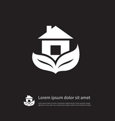 Isolated leaf icon estate element can be vector