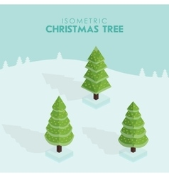Isometric christmas tree vector image