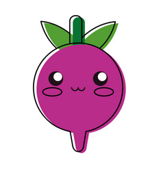Kawaii radish vector
